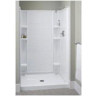 72101100-0 36 in. White High Gloss Ensemble Shower Base
