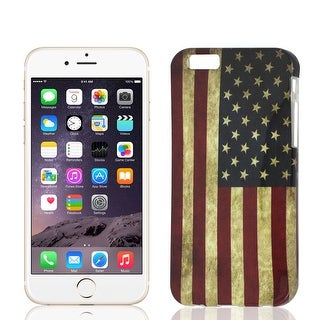 Unique Bargains Retro Style US Flag Prints Case Cover Protector for iPhone 6 6G 4.7