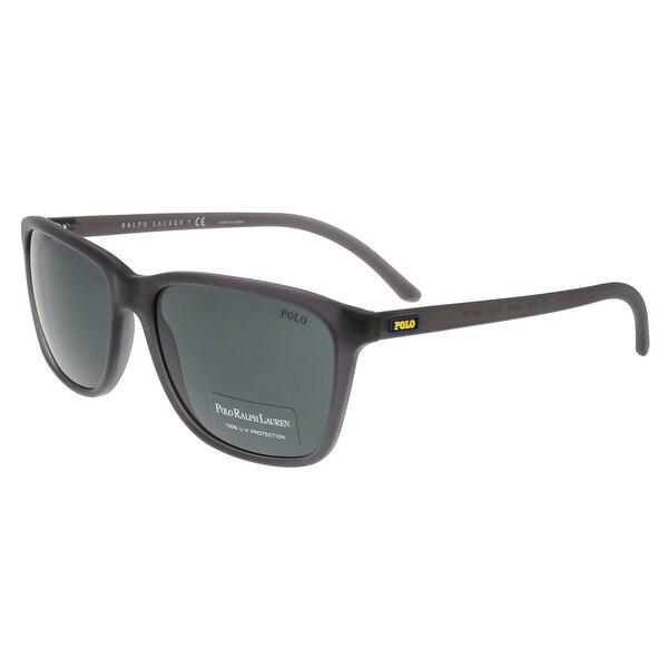 Ralph Lauren PH4108 532087 Gray Rectangle Sunglasses - 57-17-145