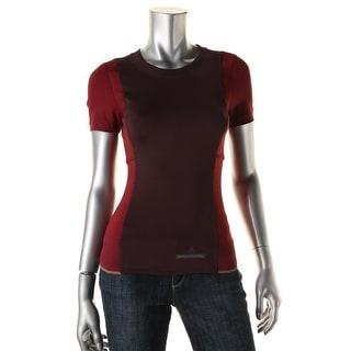 Adidas Stella McCartney Womens Colorblock Perforated T-Shirt