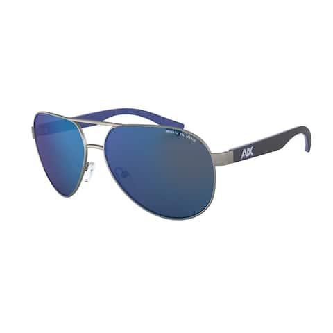 Armani Exchange AX2031S 608855 60 Matte Gunmteal Man Pilot Sunglasses