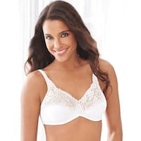 Lilyette by Bali Tailored Minimizer Bra With Lace Trim - 40d