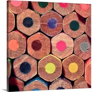 """Colored pencils."" Canvas Wall Art"