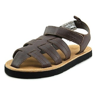 Osh Kosh Burly Open-Toe Leather Fisherman Sandal