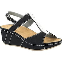David Tate Women's Bubbly Wedge Slingback Black Suede