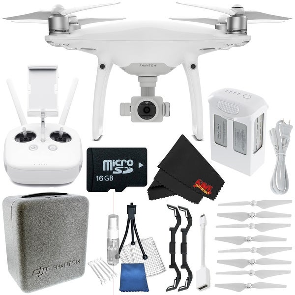 DJI Phantom 4 Pro Quadcopter CP.PT.000488 + Polar Pro Landing Gear for DJI Phantom 4 + Deluxe Starter Kit Bundle