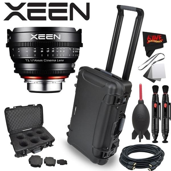 Rokinon Xeen 14mm T3.1 Lens for PL Mount with Rokinon Hardshell Carrying Case - black