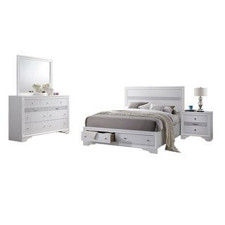 Link to Best Quality Furniture Catherine and David 4 Piece Bedroom Set Similar Items in Bedroom Furniture