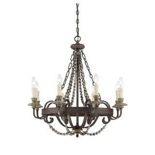 """Savoy House 1-7401-8 Mallory 8 Light 29"""" Wide 1 Tier Chandelier"""