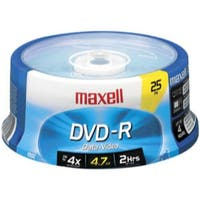 Maxell DVD-R, 4.7GB, 16x, Branded, 25pk Spindle