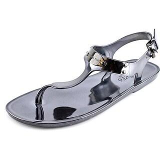 Michael Michael Kors Plate Jelly Women  Open Toe Synthetic Silver Thong Sandal