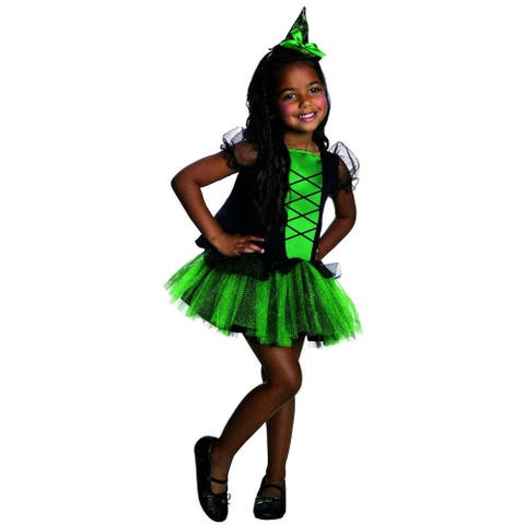 Wizard Of Oz Wicked Witch Of The West Tutu Child Costume - Green