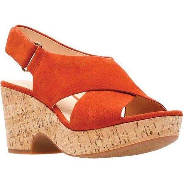 6766c3ff7 Shop Clarks Women's Maritsa Lara Platform Sandal Rust Goat Suede - Free  Shipping Today - Overstock - 21856317