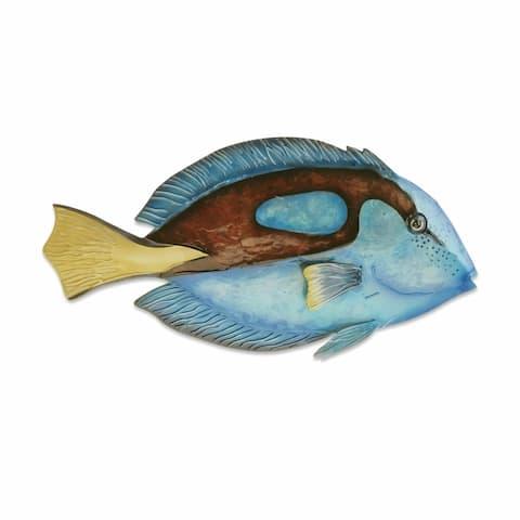 Blue Tang Fish Wall Decor - 1 x 13 x 7