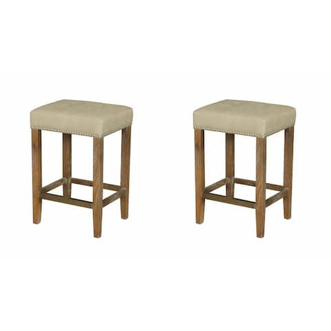 Carbon Loft Woolley Modern French Style Counter Stool (Set of 2)
