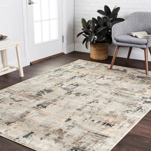 Alexander Home Mid-Century Modern Natural Distressed Area Rug