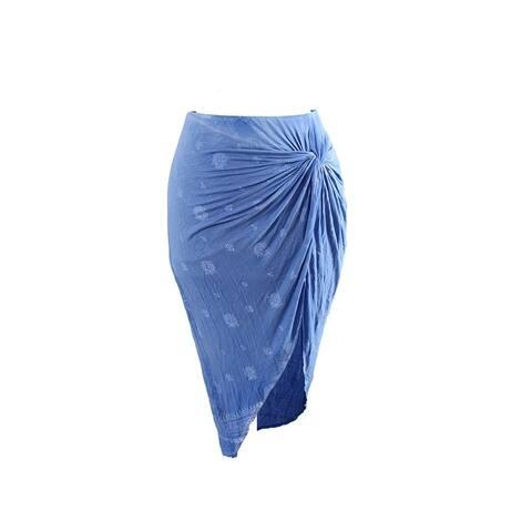 Inc International Concepts Blue High-Low Twist-Front Skirt S