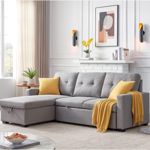 Nestfair Reversible Sleeper Sectional Sofa with Storage