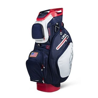 Sun Mountain 2018 C-130 Cart Bag - Navy / White / Red - navy / white / red