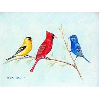 Betsy Drake DM298 Three Birds Doormat 18 x 26