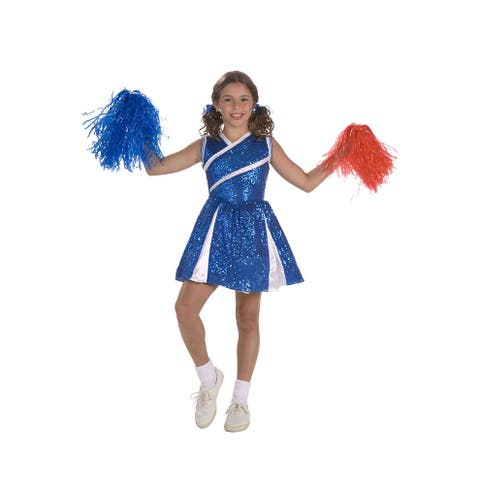 Forum Novelties Sassy Cheerleader Child Costume (Small) - Blue - Small