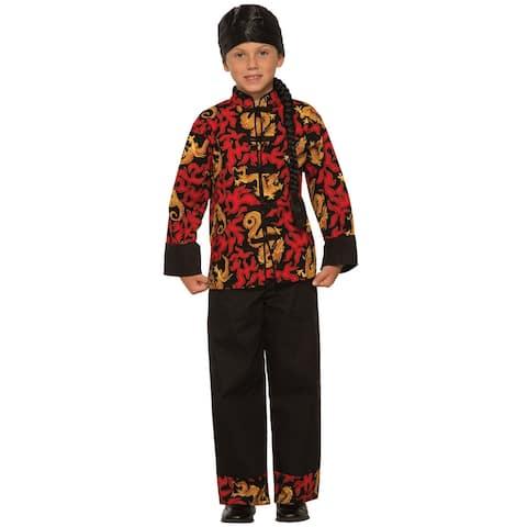 ed15f7cfcb0 Forum Novelties Dragon Prince Child Costume (Medium) - Red black - Medium