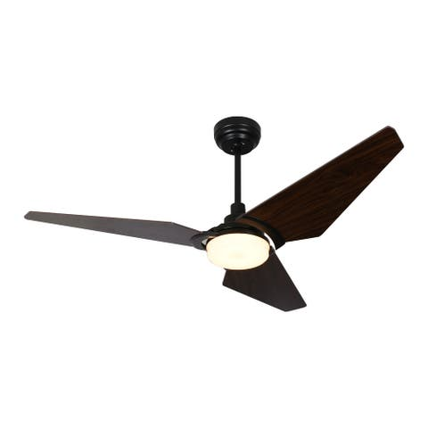 Trailblazer 52-inch Indoor/Outdoor Smart Ceiling Fan, Dimmable LED Light Kit & Remote Control, Works with Alexa/Google Home/Siri