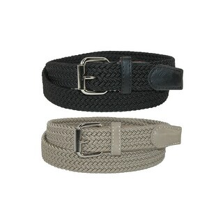 CTM® Kids' Elastic Braided Stretch Belt (Pack of 2 Colors)