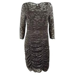 Eliza J Women's Lace Shirred Dress - Grey