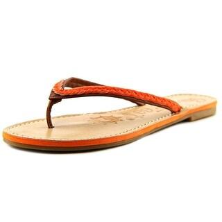 Sunny Feet Norris-16 Women Open Toe Leather Thong Sandal