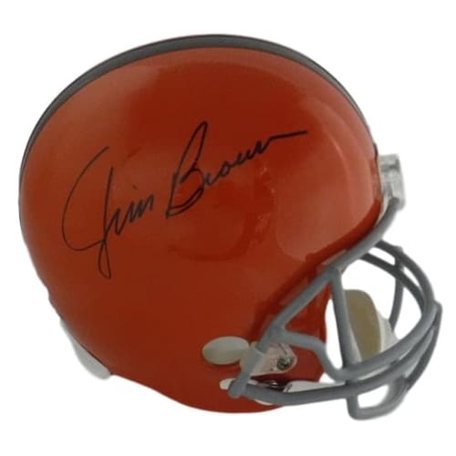 721893d1703 Shop Jim Brown Autographed Cleveland Browns Replica Helmet JSA - Free  Shipping Today - Overstock - 17665225
