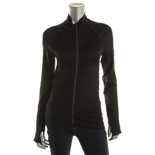 Yummie by Heather Thomson Womens Shirred Quick Dry Athletic Jacket - m/l