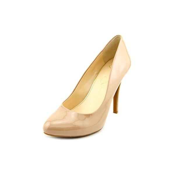 Jessica Simpson Malia Women Round Toe Synthetic Nude Heels