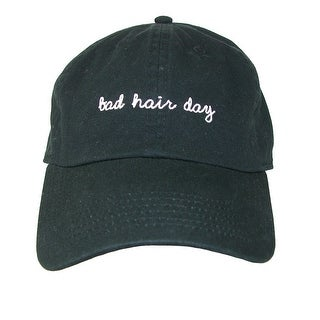 David & Young Bad Hair Day Embroidered Cotton Baseball Cap (2 options available)