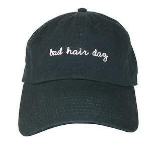 David & Young Bad Hair Day Embroidered Cotton Baseball Cap