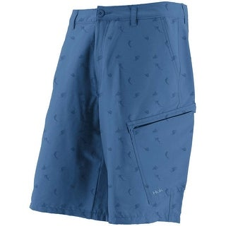 Huk Men's KC Scott Billfish Hybrid Blue Size 32 Lite Shorts
