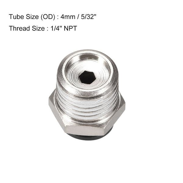 2Pcs 12mm Panel 4mm to 4mm Push in Hose Connector Air Pneumatic Quick Coupler