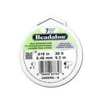 "Beadalon Bead Wire 7Strand .018"" Satin Silver 30'"