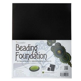 BeadSmith Beading Foundation - For Embroidery Work - Black 11x8.5 Inches