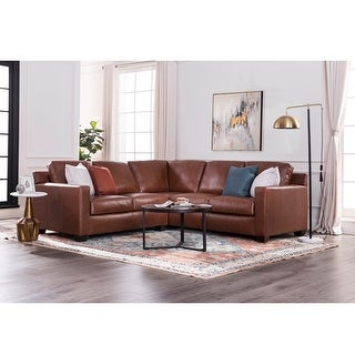 "Link to Strick & Bolton Hansen Chestnut Brown 2-piece Sectional - 95""Wx95""Dx36H"" Similar Items in Living Room Furniture"