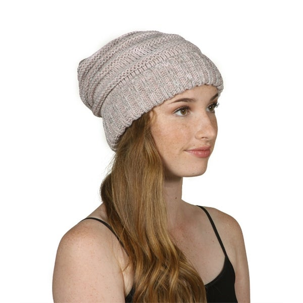 cb18ee474843a Shop Gravity Threads Trendy Oversized Chunky Soft Beanie - Free ...