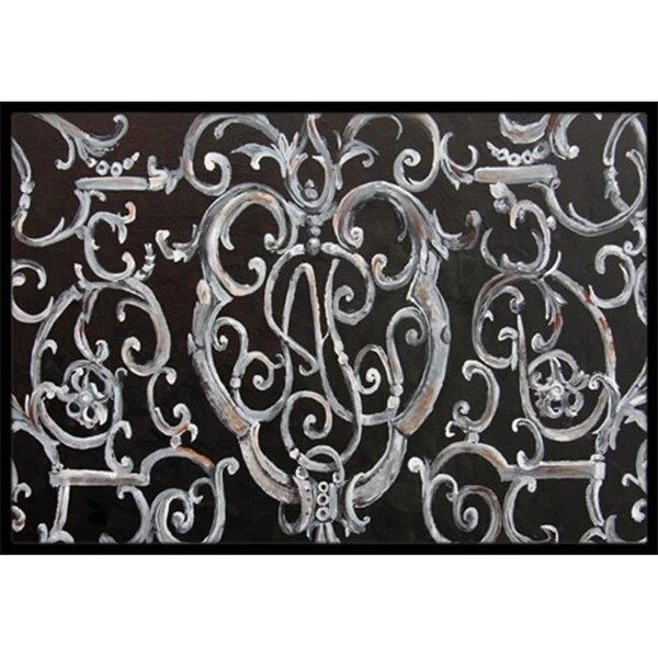 Carolines Treasures 8927MAT Ironwork Fence Indoor & Outdoor Mat 18 x 27 in.