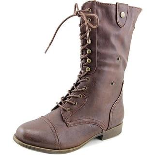 Rampage Filomena Round Toe Synthetic Mid Calf Boot