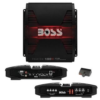 Boss PHANTOM 1000 Watts 2Channel Power Amplifier Remote Subwoofer Level Control