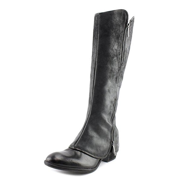 Donald J Pliner Devi 5 Women Round Toe Leather Black Knee High Boot