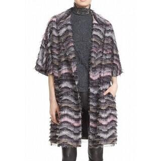 Diane von Furstenberg NEW Purple Womens Size Medium M Floretta Coat