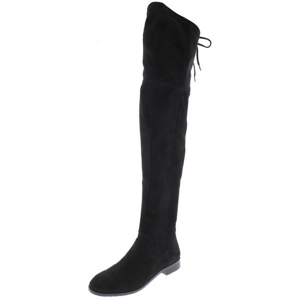 642378e6e18 Shop Dolce Vita Womens Neely Over-The-Knee Boots Faux Suede Round ...