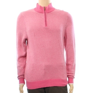 Vineyard Vines NEW Pink Berry Mens Size Small S 1/2 Zip Sweater