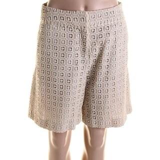 Catherine Malandrino Womens Gillian Lace Bermuda Dress Shorts - 4