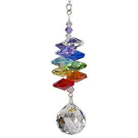 Woodstock Rainbow Makers Crystal Cascade Suncatcher, Genuine Austrian Ball Cryst